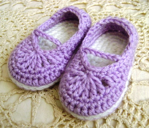 How To Crochet Baby Booties Free Patterns : Baby Booties Crochet Free Pattern Mary Janes
