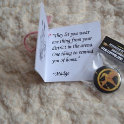 Mockingjay pin from Madge